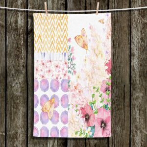 Unique Hanging Tea Towels | Tina Lavoie - Lazy Summer 1 | Flower Pattern Insect Nature