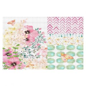 Decorative Floor Coverings   Tina Lavoie - Lazy Summer 2   Flower Pattern Insect Nature
