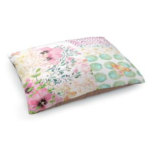Decorative Dog Pet Beds | Tina Lavoie - Lazy Summer 2 | Flower Pattern Insect Nature