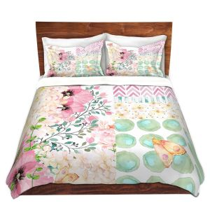 Artistic Duvet Covers and Shams Bedding   Tina Lavoie - Lazy Summer 2   Flower Pattern Insect Nature