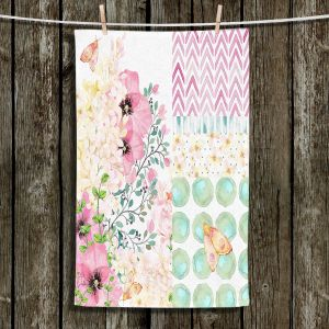Unique Hanging Tea Towels | Tina Lavoie - Lazy Summer 2 | Flower Pattern Insect Nature