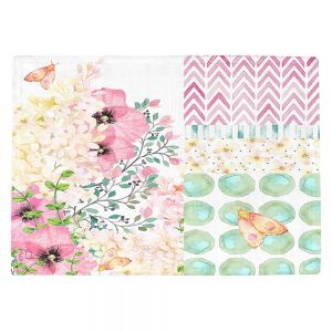 Countertop Place Mats | Tina Lavoie - Lazy Summer 2 | Flower Pattern Insect Nature