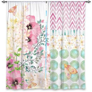 Decorative Window Treatments | Tina Lavoie - Lazy Summer 2 | Flower Pattern Insect Nature