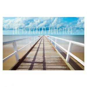 Decorative Floor Coverings | Tina Lavoie - Life is a Great Adventure | Beach Coast Dock Quote