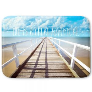 Decorative Bathroom Mats | Tina Lavoie - Life is a Great Adventure | Beach Coast Dock Quote