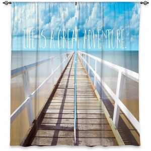 Decorative Window Treatments | Tina Lavoie - Life is a Great Adventure | Beach Coast Dock Quote