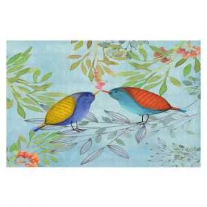 Decorative Floor Coverings   Tina Lavoie - Morning Kiss   Birds Nature Trees Holidays