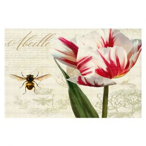 Decorative Floor Coverings | Tina Lavoie - Natural History Sketch Book ll | Bees Floral Flowers Vintage Bugs