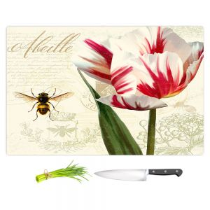 Artistic Kitchen Bar Cutting Boards | Tina Lavoie - Natural History Sketch Book ll | Bees Floral Flowers Vintage Bugs