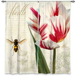 Decorative Window Treatments | Tina Lavoie - Natural History Sketch Book ll | Bees Floral Flowers Vintage Bugs
