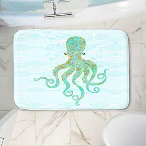 Decorative Bathroom Mats | Tina Lavoie - Olivia Octopus | Ocean Nature Sealife