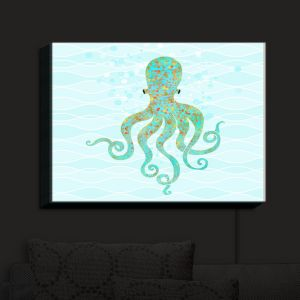 Nightlight Sconce Canvas Light | Tina Lavoie - Olivia Octopus