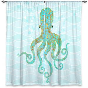 Decorative Window Treatments | Tina Lavoie - Olivia Octopus | Ocean Nature Sealife