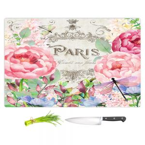 Artistic Kitchen Bar Cutting Boards | Tina Lavoie - Paris Flower Market 1 | France Floral