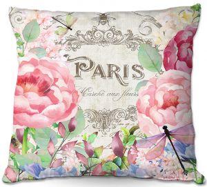 Throw Pillows Decorative Artistic | Tina Lavoie - Paris Flower Market 1 | France Floral