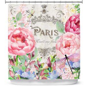 Premium Shower Curtains | Tina Lavoie - Paris Flower Market 1 | France Floral