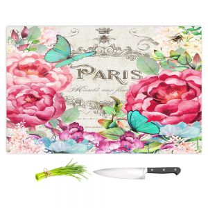 Artistic Kitchen Bar Cutting Boards | Tina Lavoie - Paris Flower Market 2 | France Floral