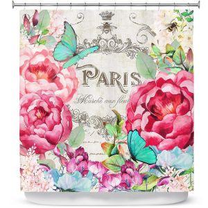 Premium Shower Curtains | Tina Lavoie - Paris Flower Market 2 | France Floral