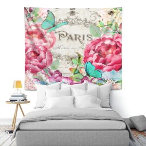 Artistic Wall Tapestry | Tina Lavoie - Paris Flower Market 2 | France Floral