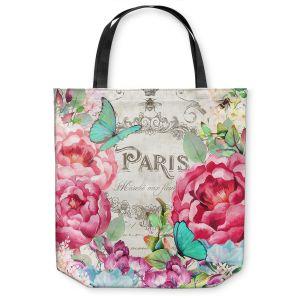 Unique Shoulder Bag Tote Bags | Tina Lavoie - Paris Flower Market 2 | France Floral