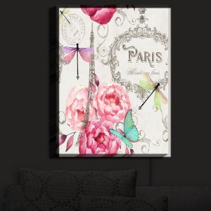 Nightlight Sconce Canvas Light | Tina Lavoie - Paris Flower Market Pattern