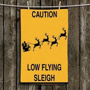 Unique Hanging Tea Towels | Tina Lavoie - Santa Crossing | Holiday Santa Reindeer