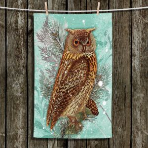 Unique Bathroom Towels | Tina Lavoie - Snowy Owl | Nature Bird Winter