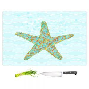 Artistic Kitchen Bar Cutting Boards | Tina Lavoie - Stella Starfish | Ocean Nature Sealife