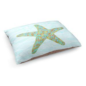 Decorative Dog Pet Beds | Tina Lavoie - Stella Starfish | Ocean Nature Sealife