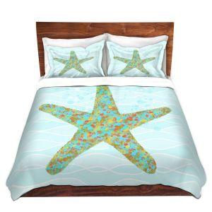 Artistic Duvet Covers and Shams Bedding | Tina Lavoie - Stella Starfish | Ocean Nature Sealife
