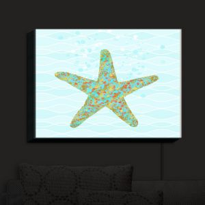 Nightlight Sconce Canvas Light | Tina Lavoie - Stella Starfish
