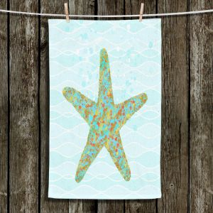 Unique Hanging Tea Towels | Tina Lavoie - Stella Starfish | Ocean Nature Sealife