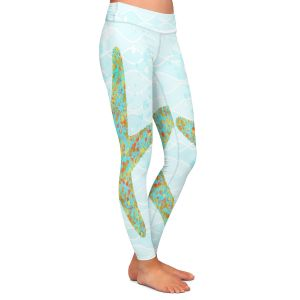 Casual Comfortable Leggings | Tina Lavoie - Stella Starfish | Ocean Nature Sealife