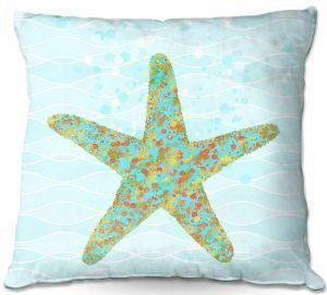 Decorative Outdoor Patio Pillow Cushion | Tina Lavoie - Stella Starfish | Ocean Nature Sealife