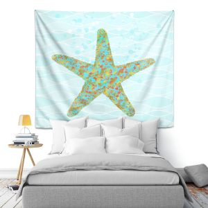 Artistic Wall Tapestry | Tina Lavoie - Stella Starfish | Ocean Nature Sealife