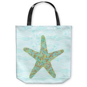 Unique Shoulder Bag Tote Bags | Tina Lavoie - Stella Starfish | Ocean Nature Sealife