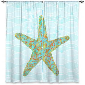 Decorative Window Treatments | Tina Lavoie - Stella Starfish | Ocean Nature Sealife