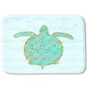 Decorative Bathroom Mats | Tina Lavoie - Tucker Turtle | Ocean Nature Sealife