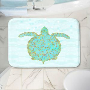 Decorative Bathroom Mats | Tina Lavoie - Tucker Turtle | Ocean Nature Sealife