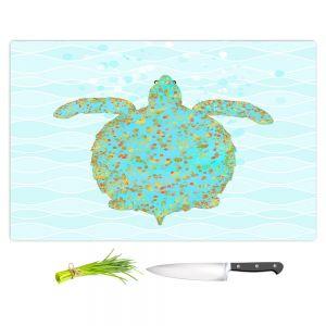 Artistic Kitchen Bar Cutting Boards   Tina Lavoie - Tucker Turtle   Ocean Nature Sealife
