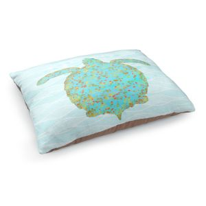 Decorative Dog Pet Beds | Tina Lavoie - Tucker Turtle | Ocean Nature Sealife