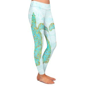 Casual Comfortable Leggings | Tina Lavoie - Tucker Turtle | Ocean Nature Sealife