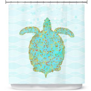 Premium Shower Curtains | Tina Lavoie - Tucker Turtle | Ocean Nature Sealife