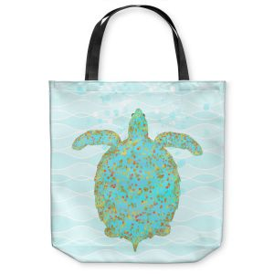 Unique Shoulder Bag Tote Bags | Tina Lavoie - Tucker Turtle | Ocean Nature Sealife