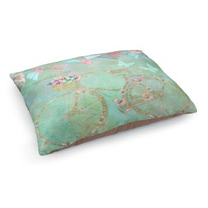 Decorative Dog Pet Beds | Tina Lavoie - You Spread Joy | Spring Bicycle Peace Butterfly