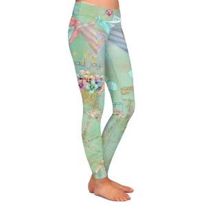 Casual Comfortable Leggings | Tina Lavoie - You Spread Joy | Spring Bicycle Peace Butterfly