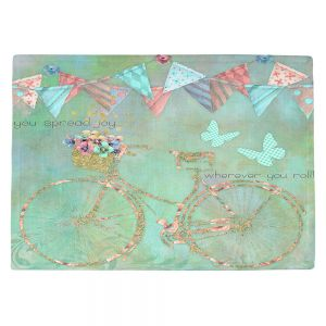 Countertop Place Mats | Tina Lavoie - You Spread Joy | Spring Bicycle Peace Butterfly