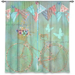 Decorative Window Treatments | Tina Lavoie - You Spread Joy | Spring Bicycle Peace Butterfly