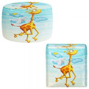 Round and Square Ottoman Foot Stools | Tooshtoosh - Fly Giraffe Fly