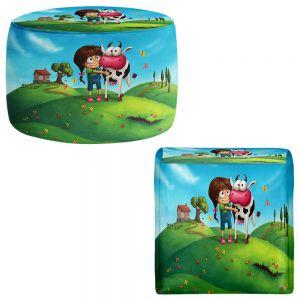 Round and Square Ottoman Foot Stools | Tooshtoosh - My Moo Cow